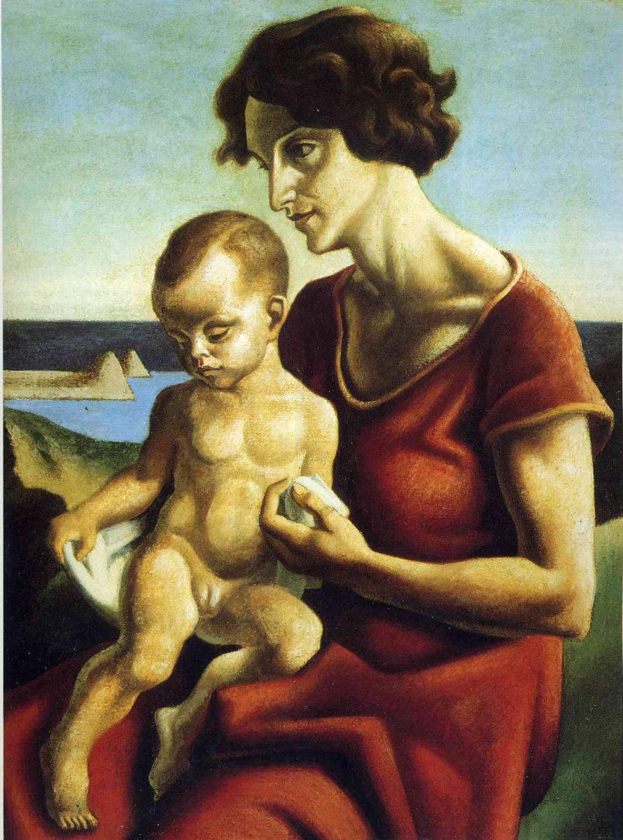 Томас Харт Бентон. Мать с ребенком