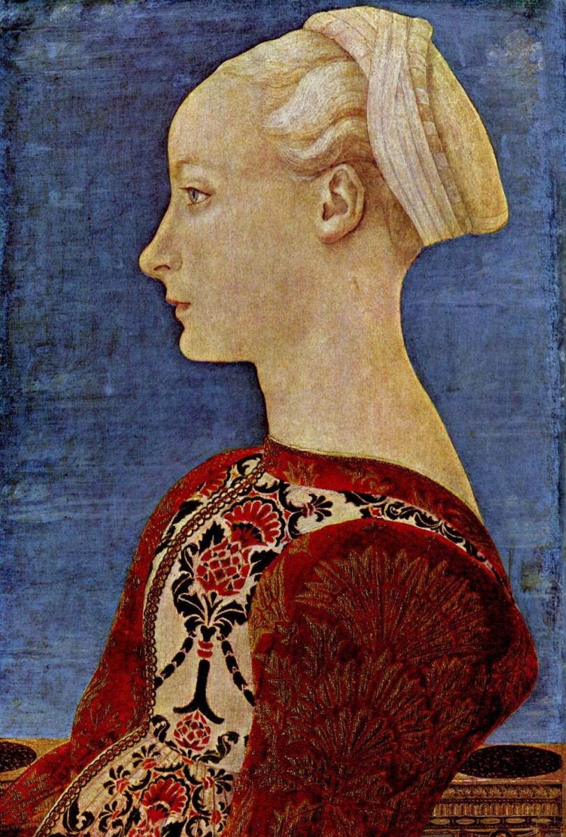 Доменико Венециано. Портрет знатной молодой дамы, фрагмент