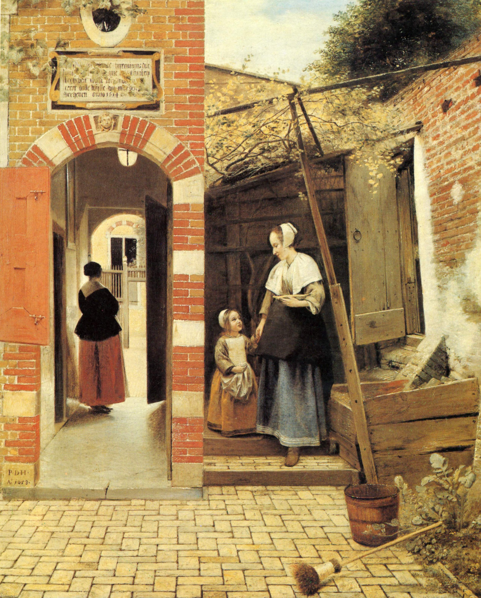 Питер де Хох. Задний двор