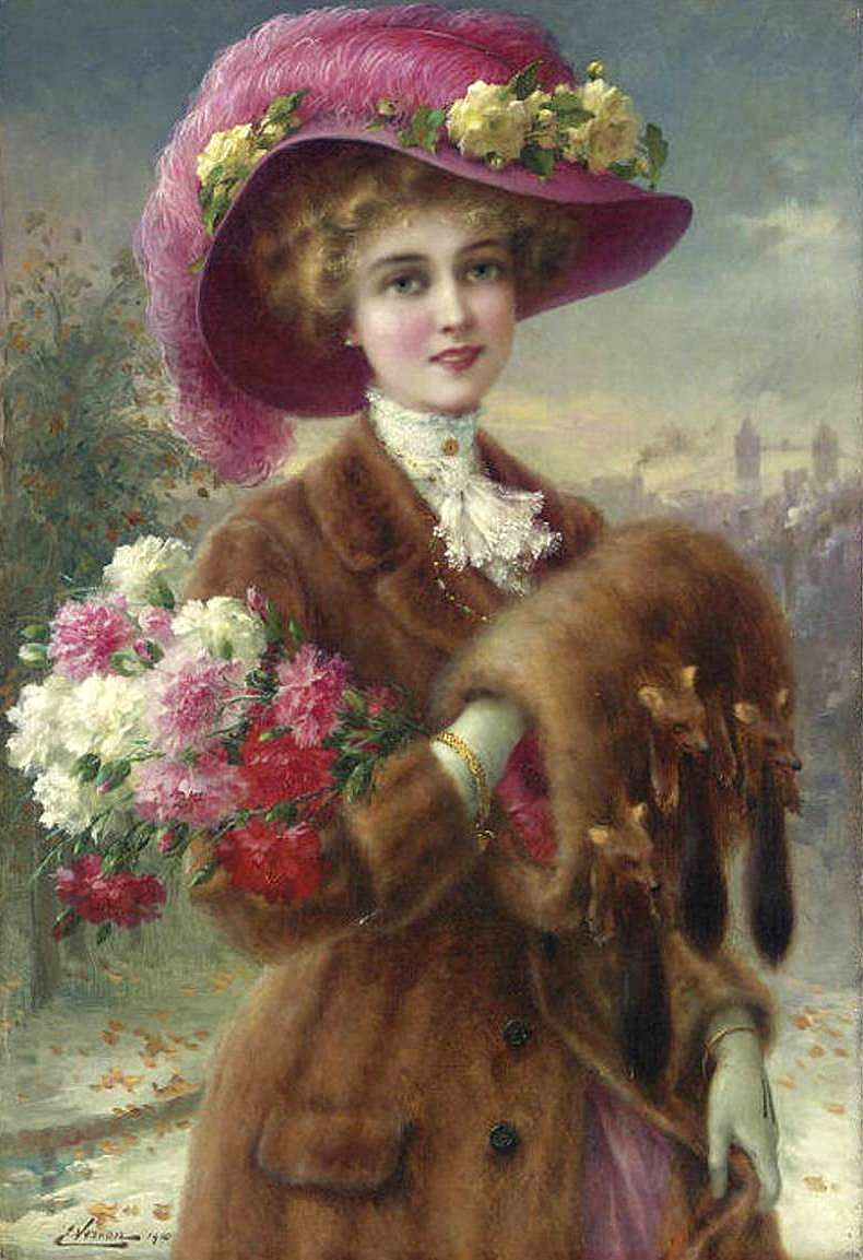 Emile Vernon. Winter beauty. 1910