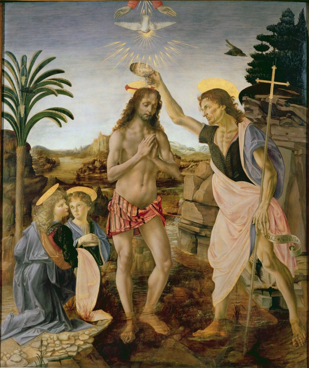 Leonardo da Vinci. Baptism of Christ