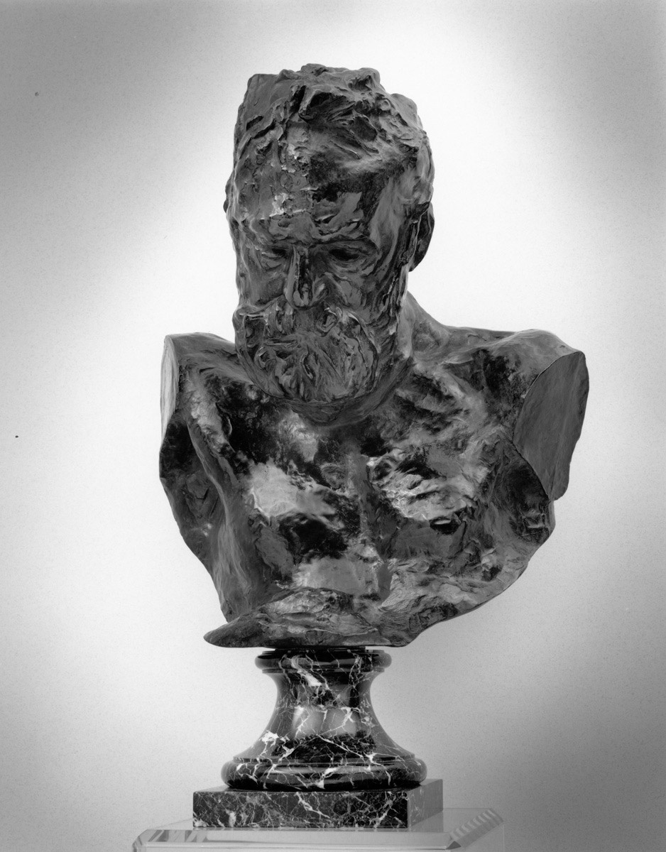 Auguste Rodin. Heroic bust of Victor Hugo