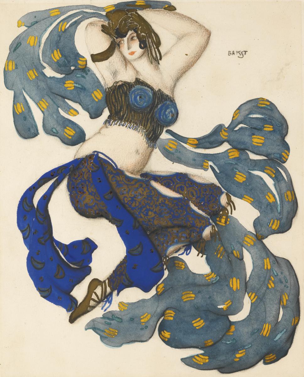 """Lev Samoilovich Bakst (Leon Bakst). Odalisque. Costume design for the ballet """"Scheherazade"""""""