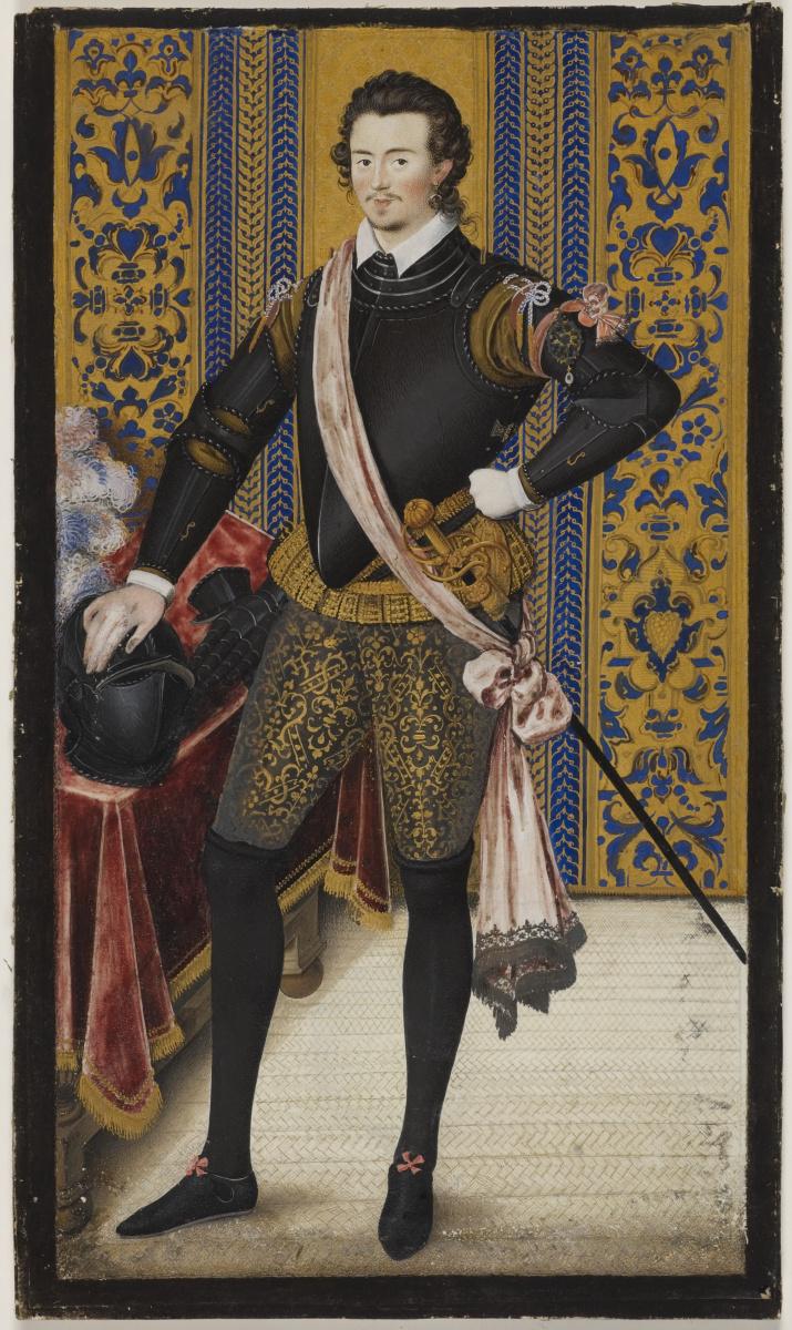 Nicholas Hilliard. Portrait of sir Robert Dudley