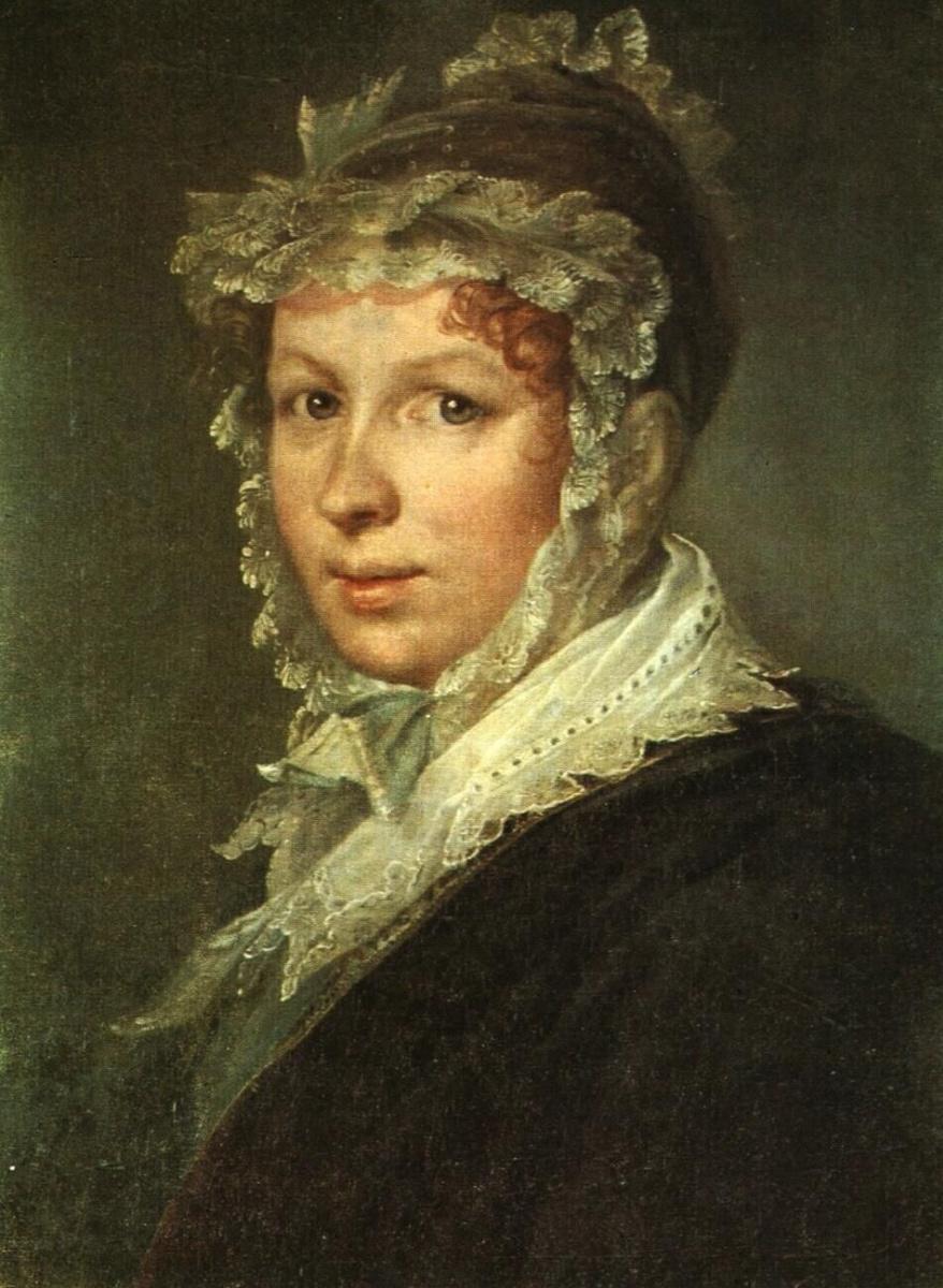 Василий Андреевич Тропинин. Портрет А. И. Тропининой, жены художника
