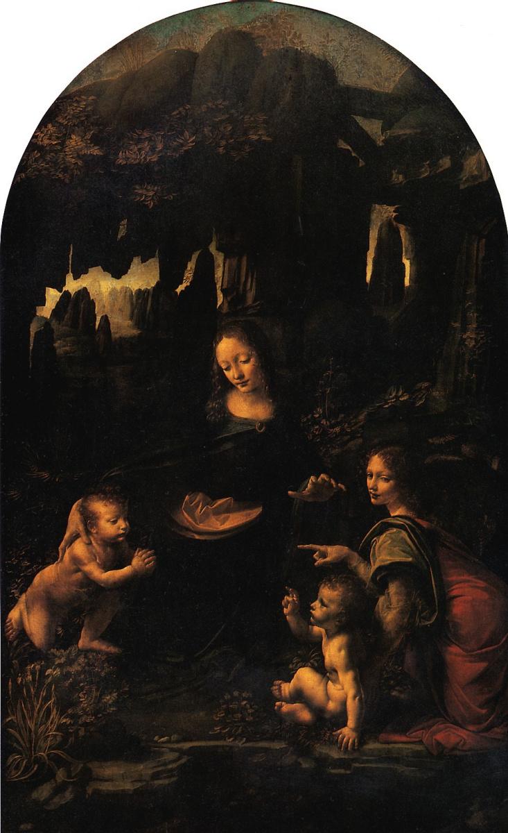 Леонардо да Винчи. Мадонна в гроте