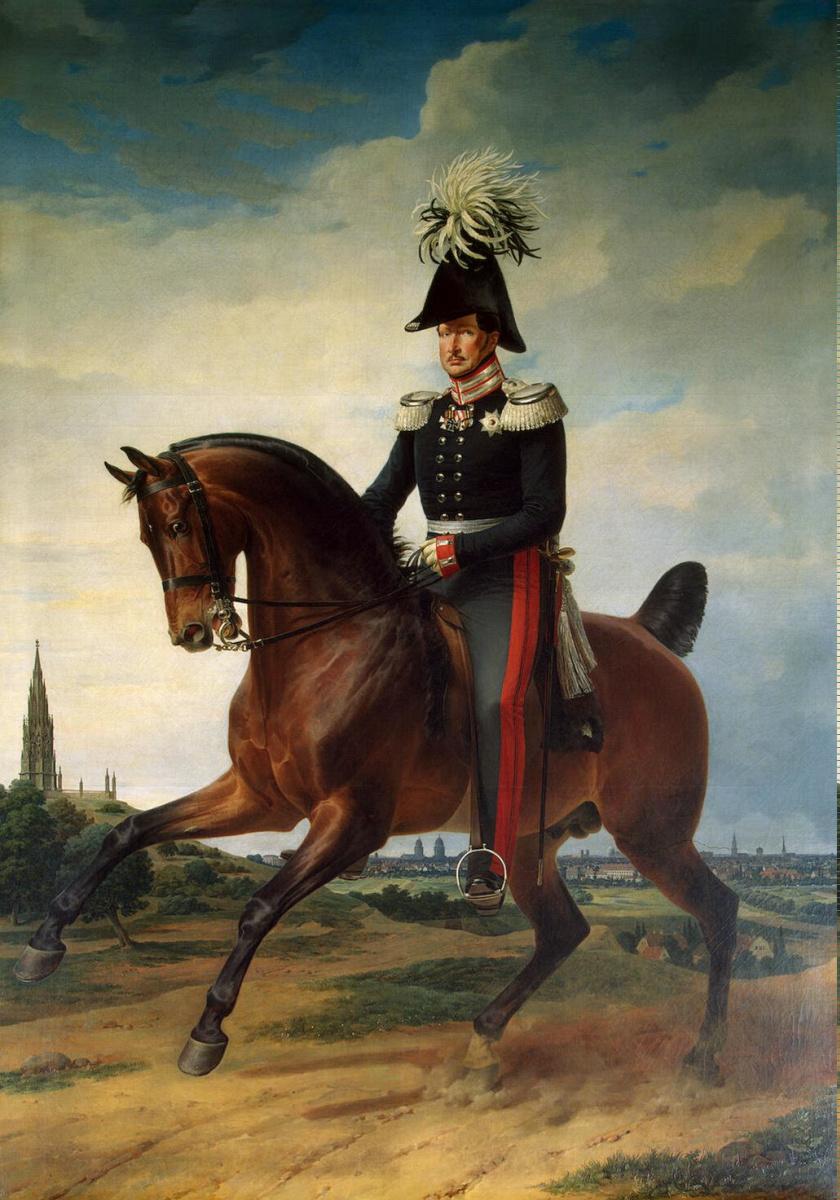 Франц Крюгер. Портрет Фридриха-Вильгельма III верхом на коне