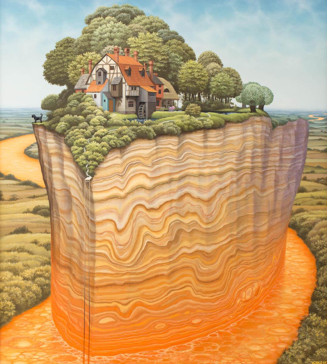 Jacek Yerka. Tectonic