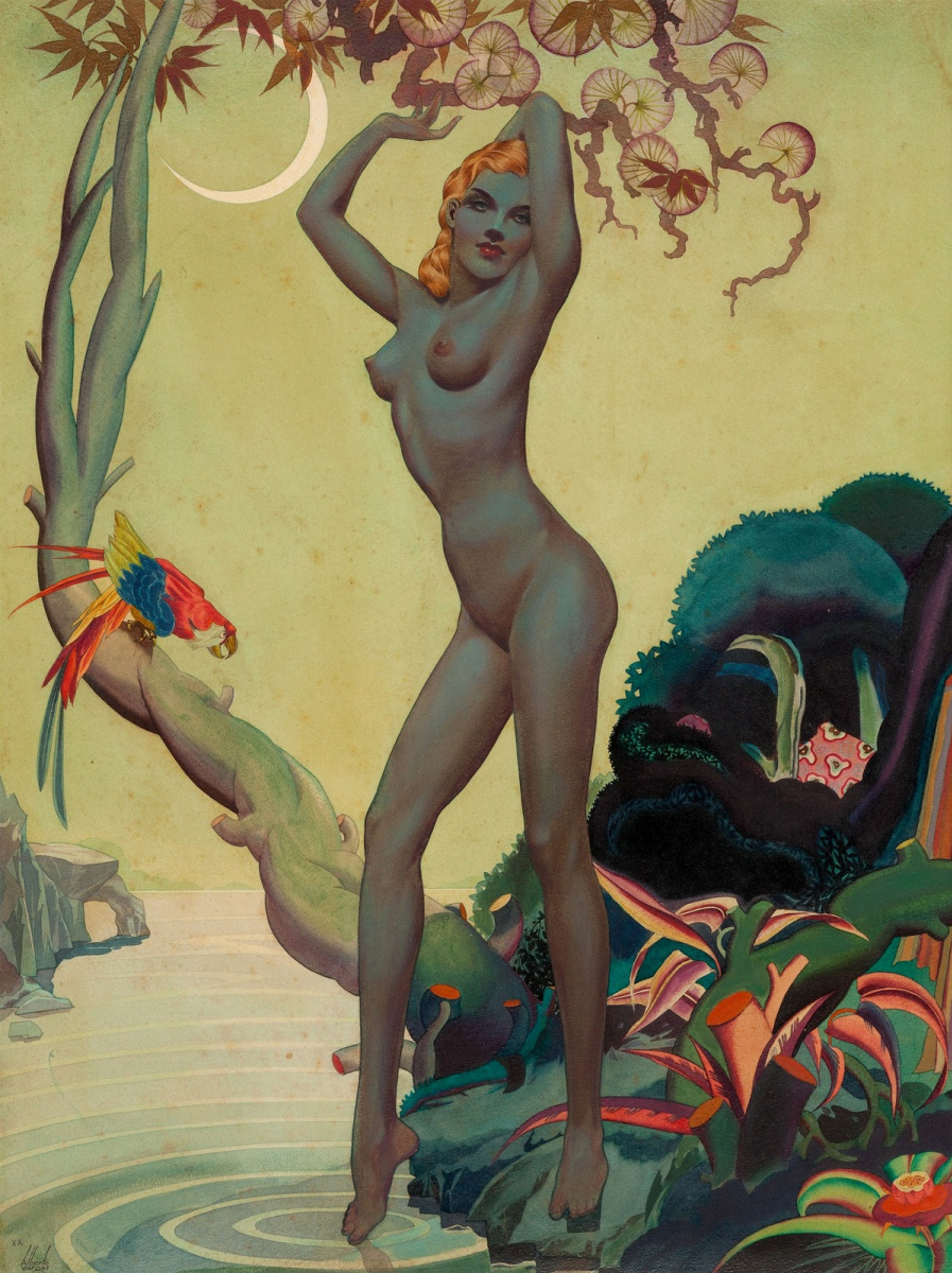 Альберто Варгас. Девушка джунглей.