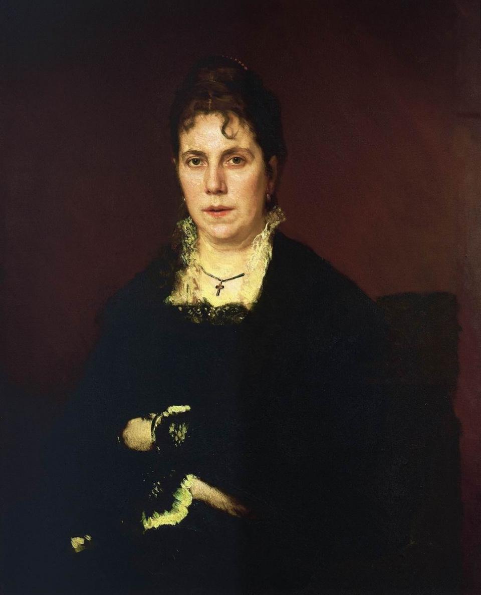 Ivan Nikolayevich Kramskoy. Portrait of Sofia Nikolaevna Kramskoy, the artist's wife
