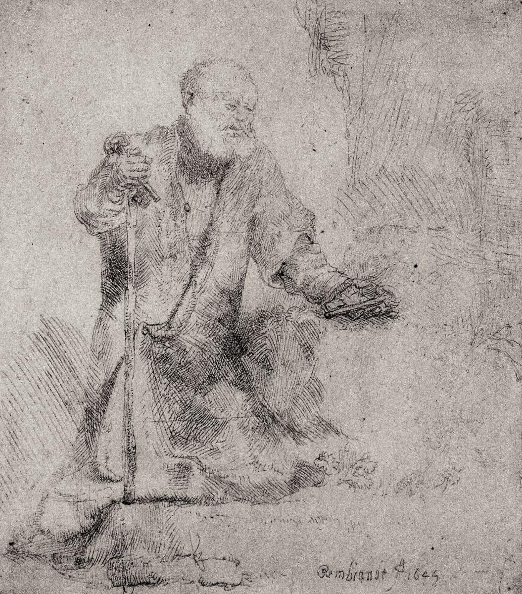 Рембрандт Харменс ван Рейн. Раскаяние святого Петра