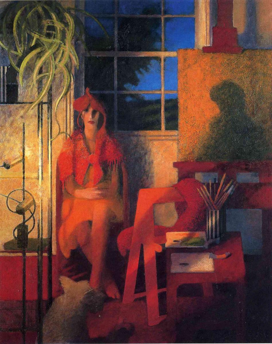 Билл Жаклин. Женщина в красной косынке