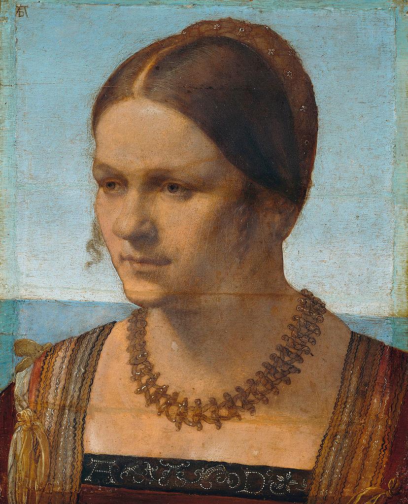 Albrecht Durer. Portrait of a young Venetian woman