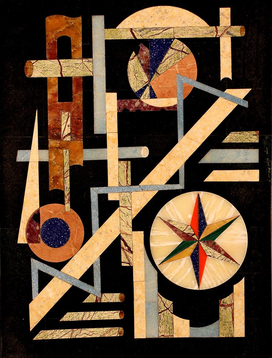 Boris Lazarevich Oshkukov. Black, florentine mosaic geometry