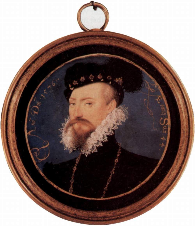 Nicolas Hilliard. Robert Dudley, Earl of Leicester, Tondo