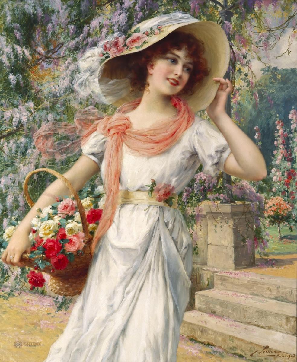 Эмиль Вернон. Цветущий сад. 1915