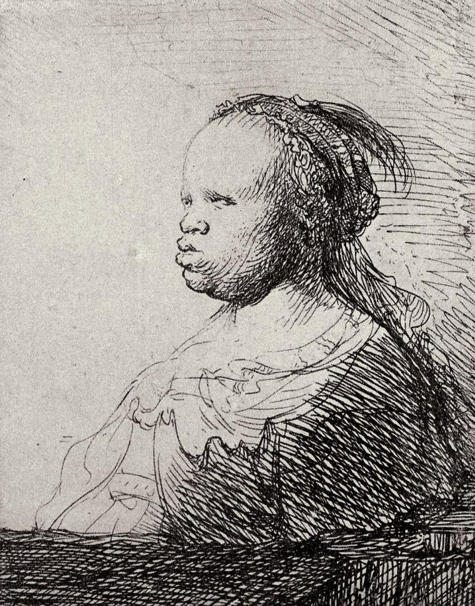 """Рембрандт Харменс ван Рейн. Так называемая """"Белая негритянка"""""""