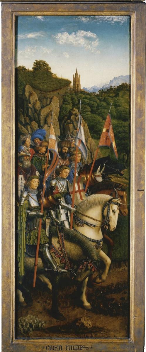 Ян ван Эйк. Гентский алтарь. Воинство Христово (фрагмент)