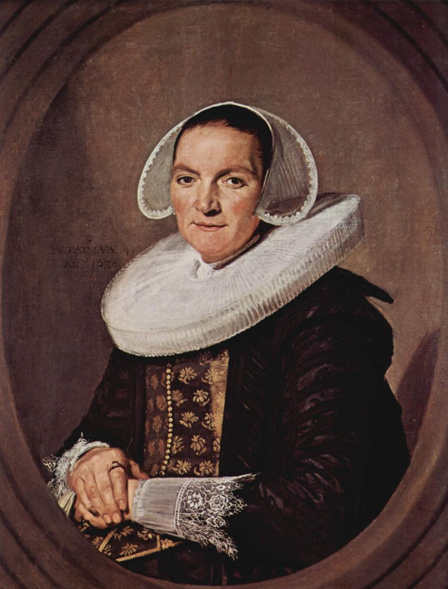Франс Хальс. Портрет сорокалетней женщины со скрещенными руками