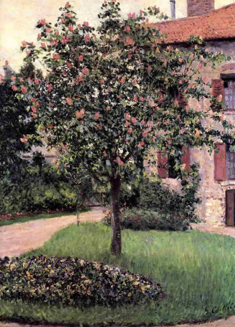 Gustave Caillebotte. Petit Jeweler. South-West facade of the artist's Studio. Spring garden