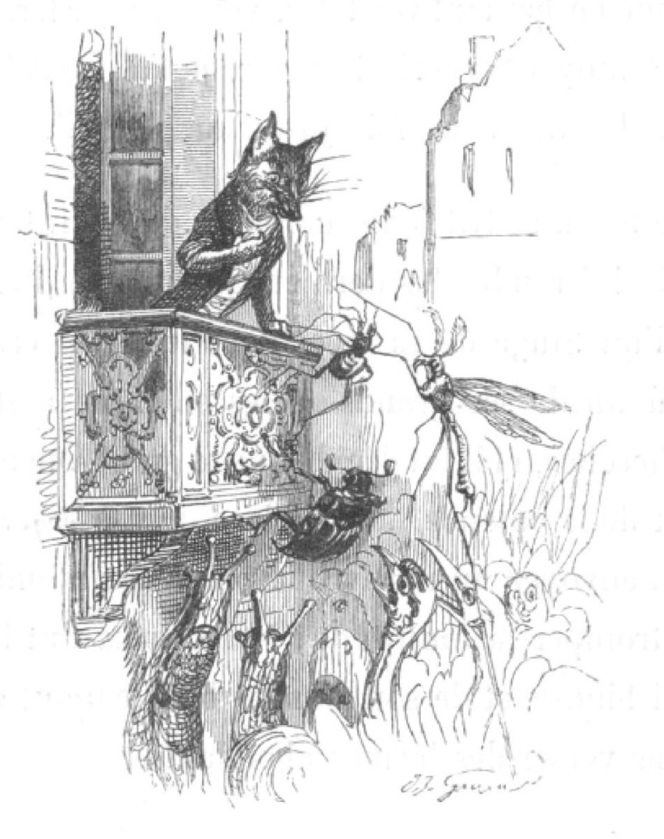 """Жан Иньяс Изидор (Жерар) Гранвиль. Они ползут и лезут... """"Сцены общественной и частной жизни животных"""""""