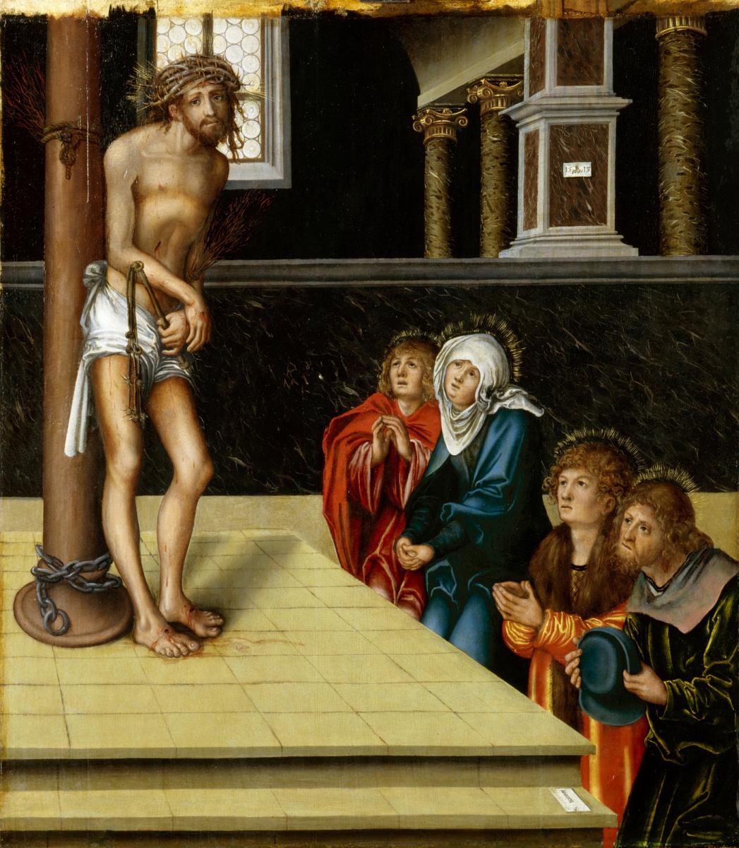 Лукас Кранах Старший. Христос-страстотерпец у столба бичевания