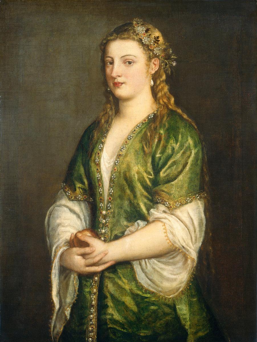 Titian Vecelli. Portrait of a woman