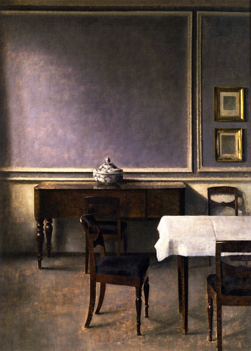 Vilhelm Hammershøi. Interior with punch bowl
