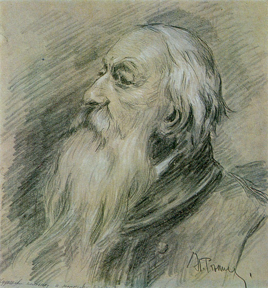 Илья Ефимович Репин. Портрет В. В. Стасова