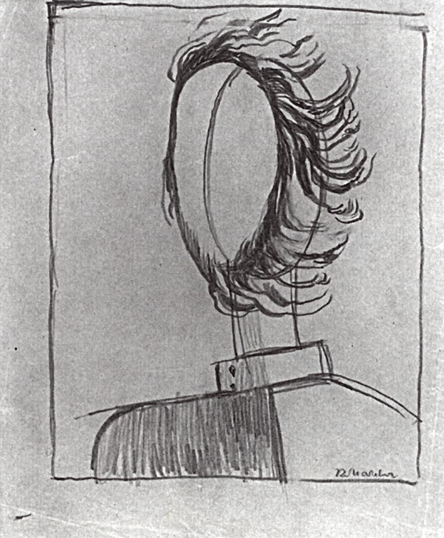 Kazimir Malevich. Male head