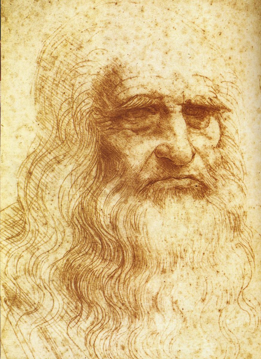Leonardo da Vinci. Turin self portrait