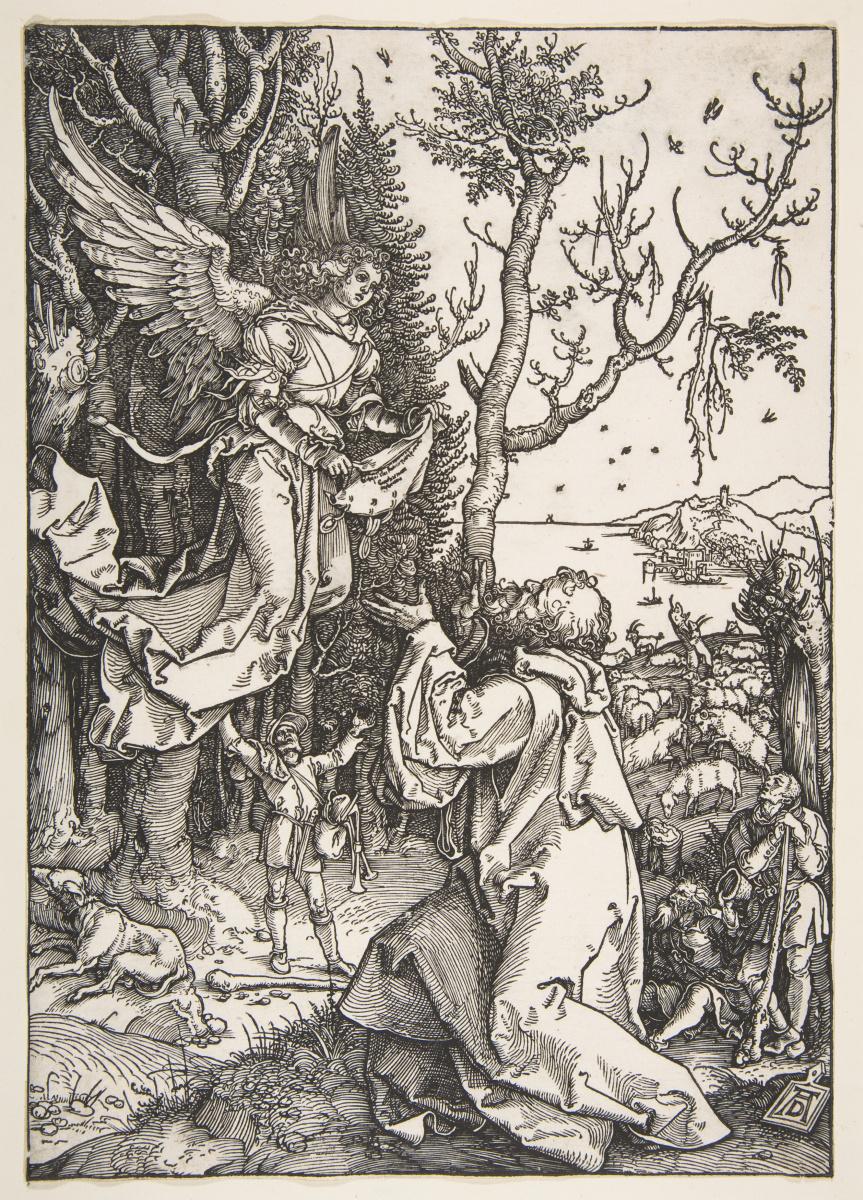 Альбрехт Дюрер. Святой Иоаким и Ангел