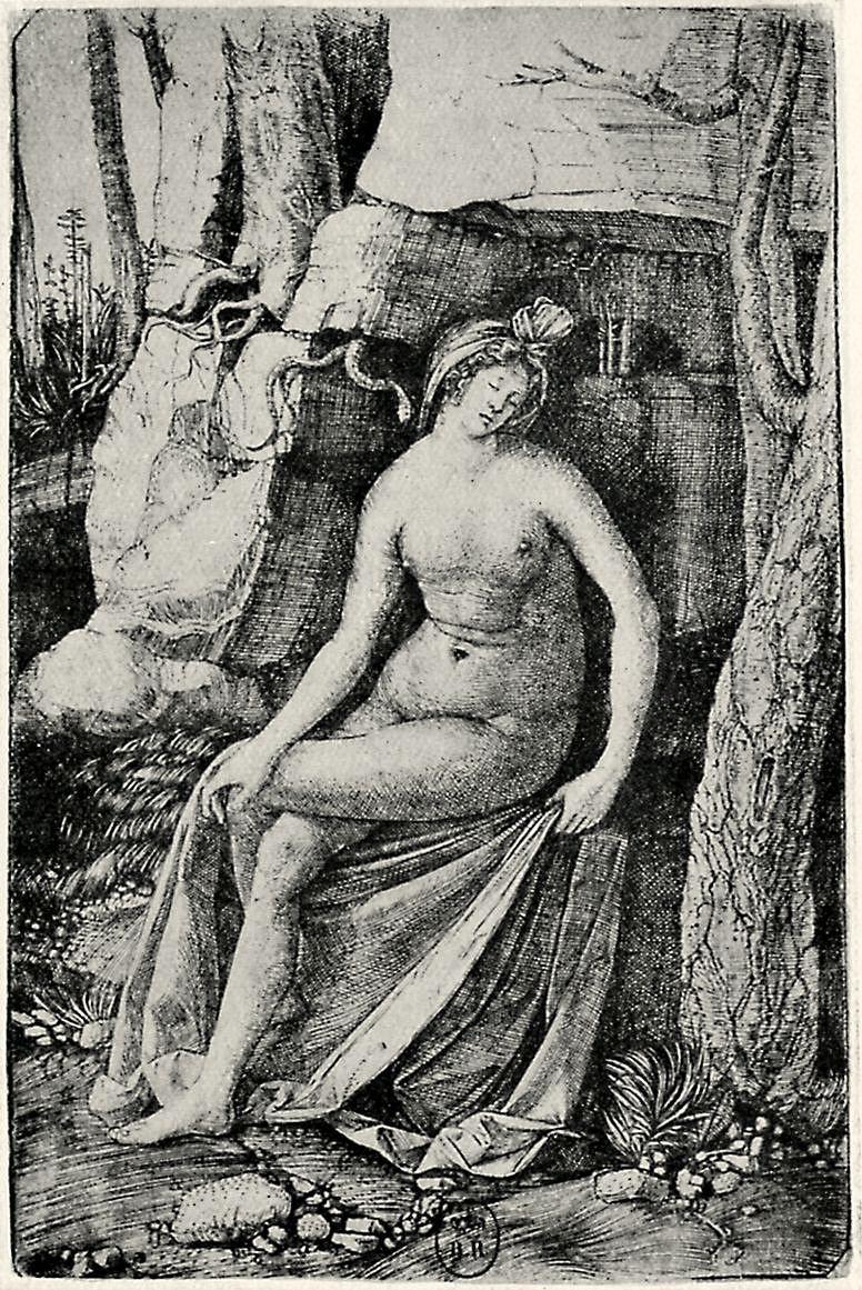 Якопо де Барбари. Спящая женщина и змея