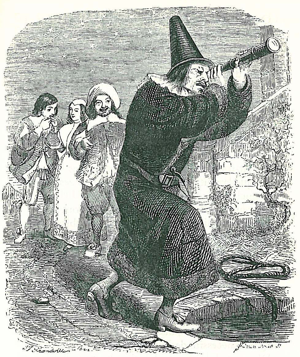 Jean Inias Isidore (Gerard) Granville. The astrologer who fell into the well. Illustrations to the fables of Jean de Lafontaine