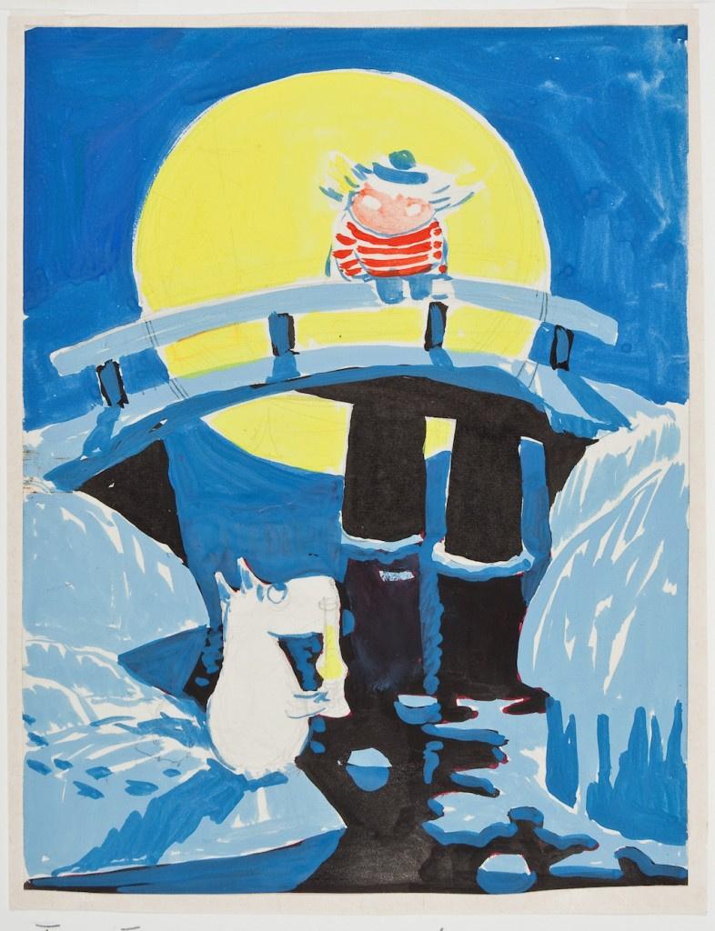 """Туве Янссон. Рисунок к рассказу Т. Янссон """"Волшебная зима"""""""