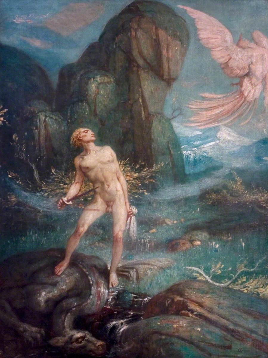 Charles Ricketts. Siegfried and the magic bird