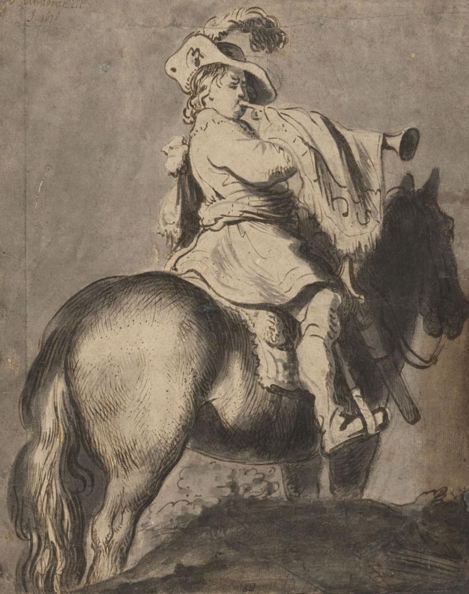 Ян Ливенс. Трубач на коне