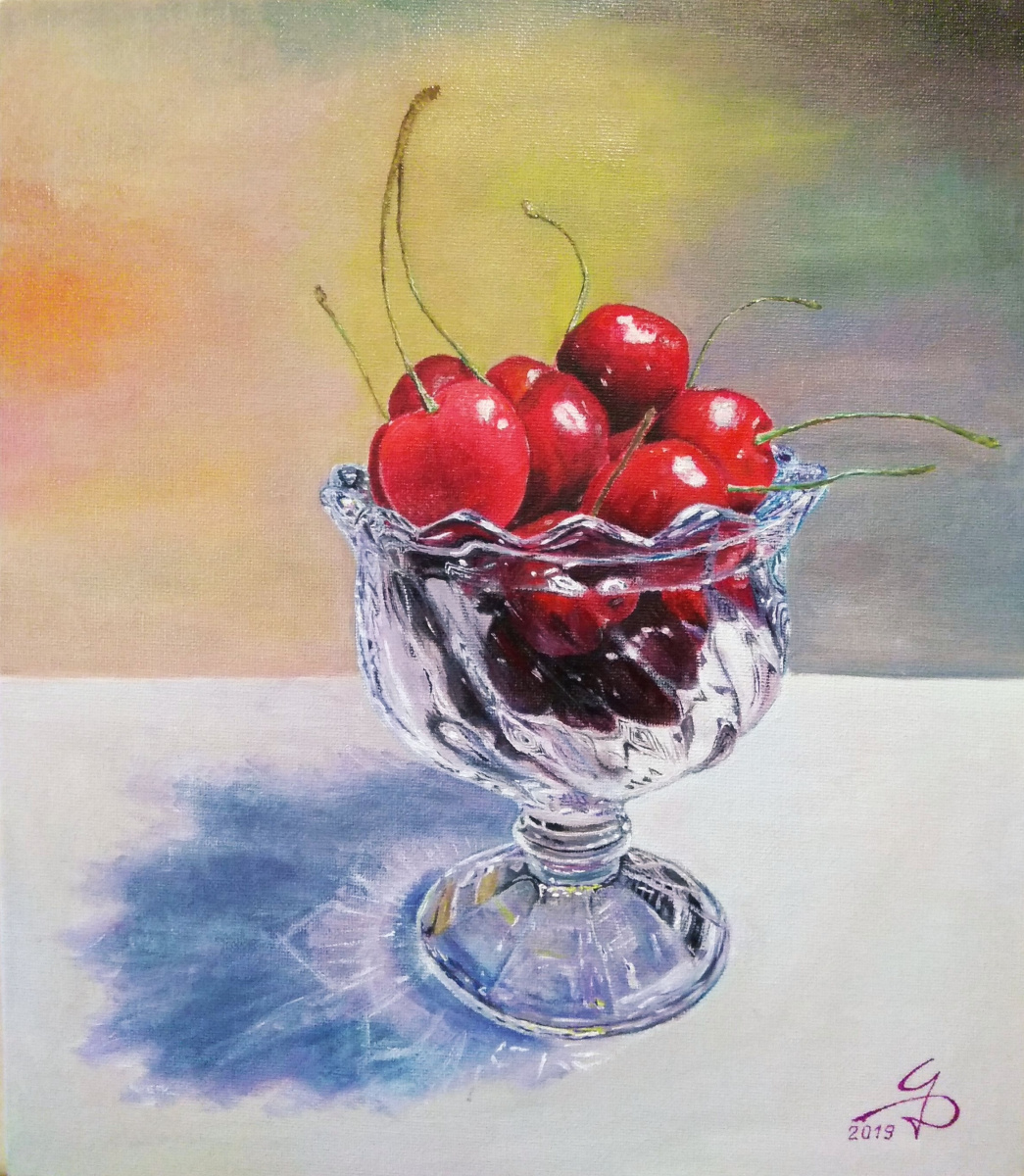 Dmitry Alexandrovich Tsvetaev. Cherry in a vase