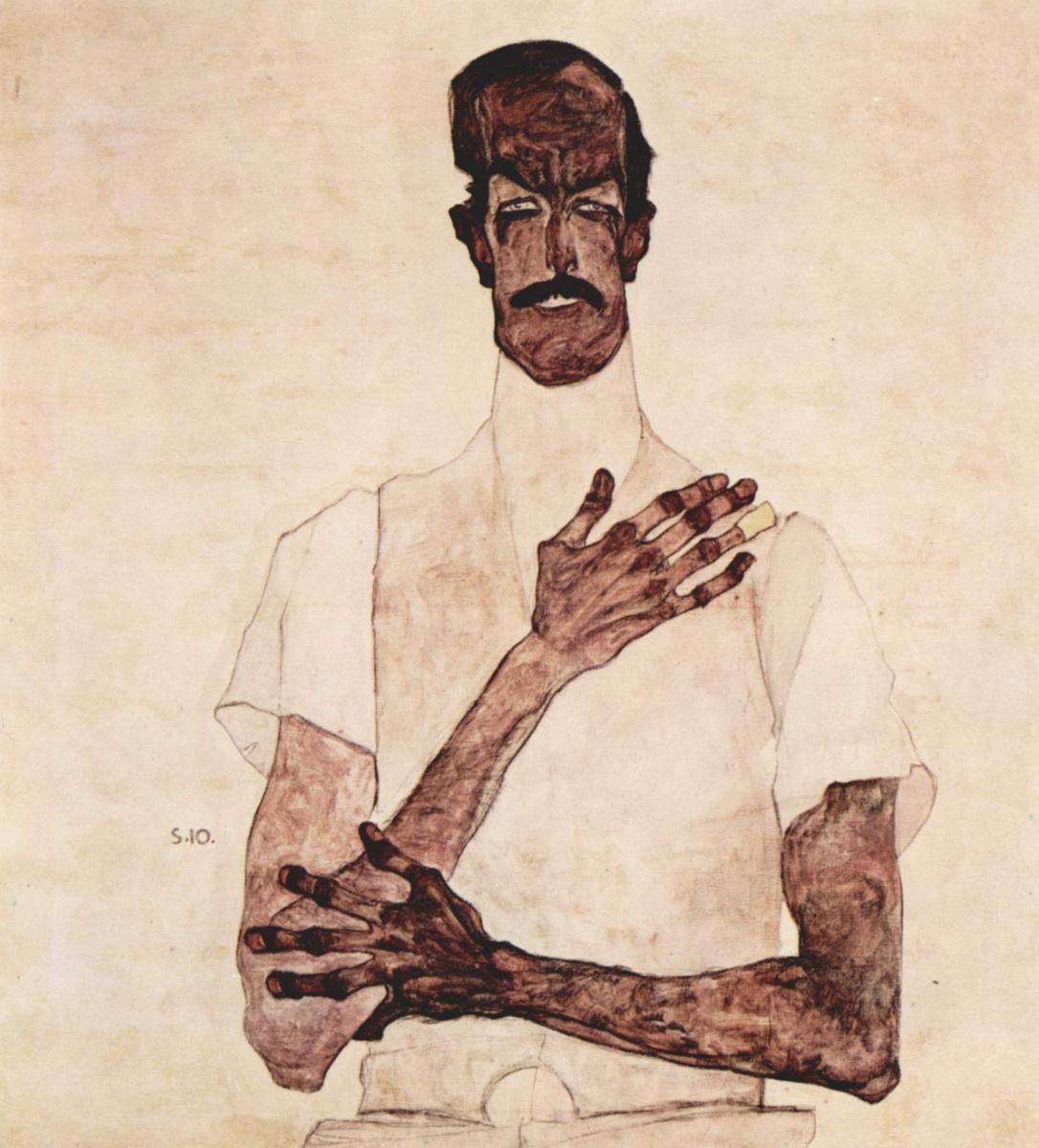 Egon Schiele. Portrait of Erwin von Graff