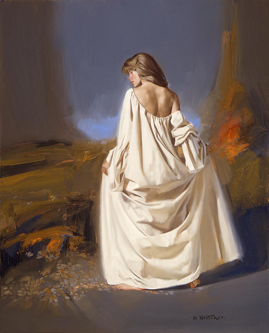 Уильям Уитакер. Девушка в белом