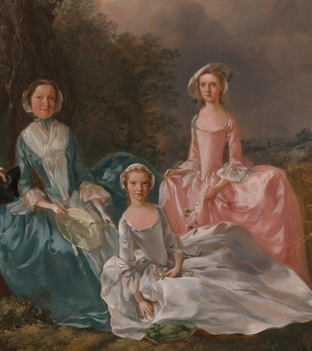 Томас Гейнсборо. Портрет семьи Гравенор. Фрагмент