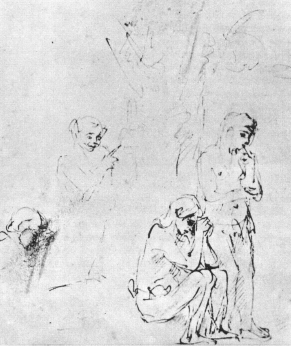 Рембрандт Харменс ван Рейн. Адам и Ева после Грехопадения