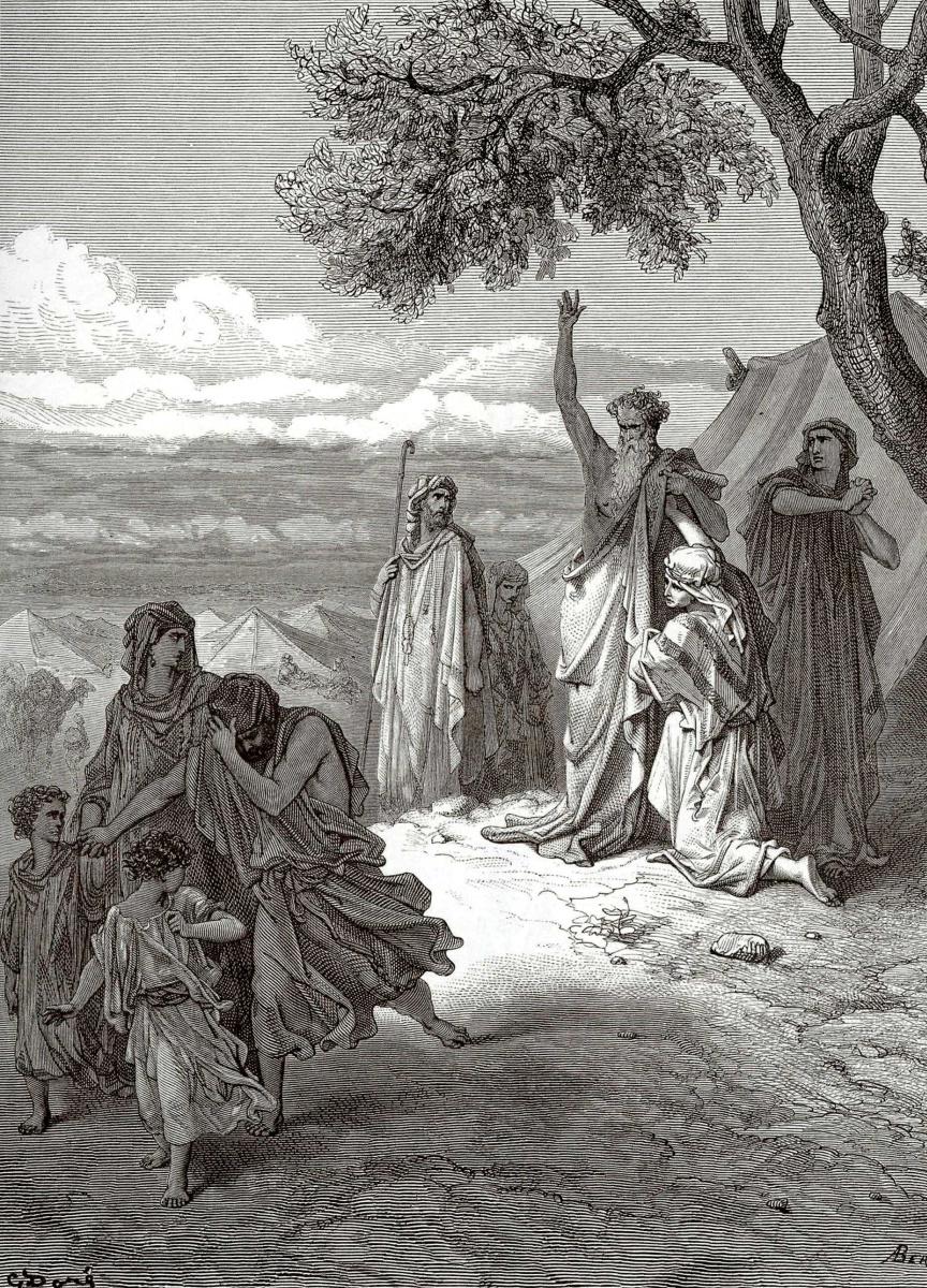 Поль Гюстав Доре. Иллюстрации к Библии: Ной проклинает Хама