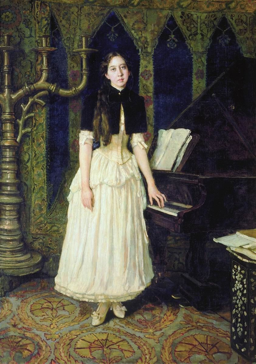 Victor Mikhailovich Vasnetsov. Portrait Of Helena Adrianovna Prahovo