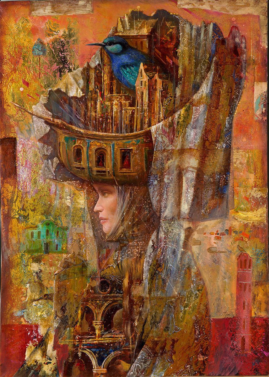 Sergey Nikolayevich Lukyanov. Carnival architecture. Evening
