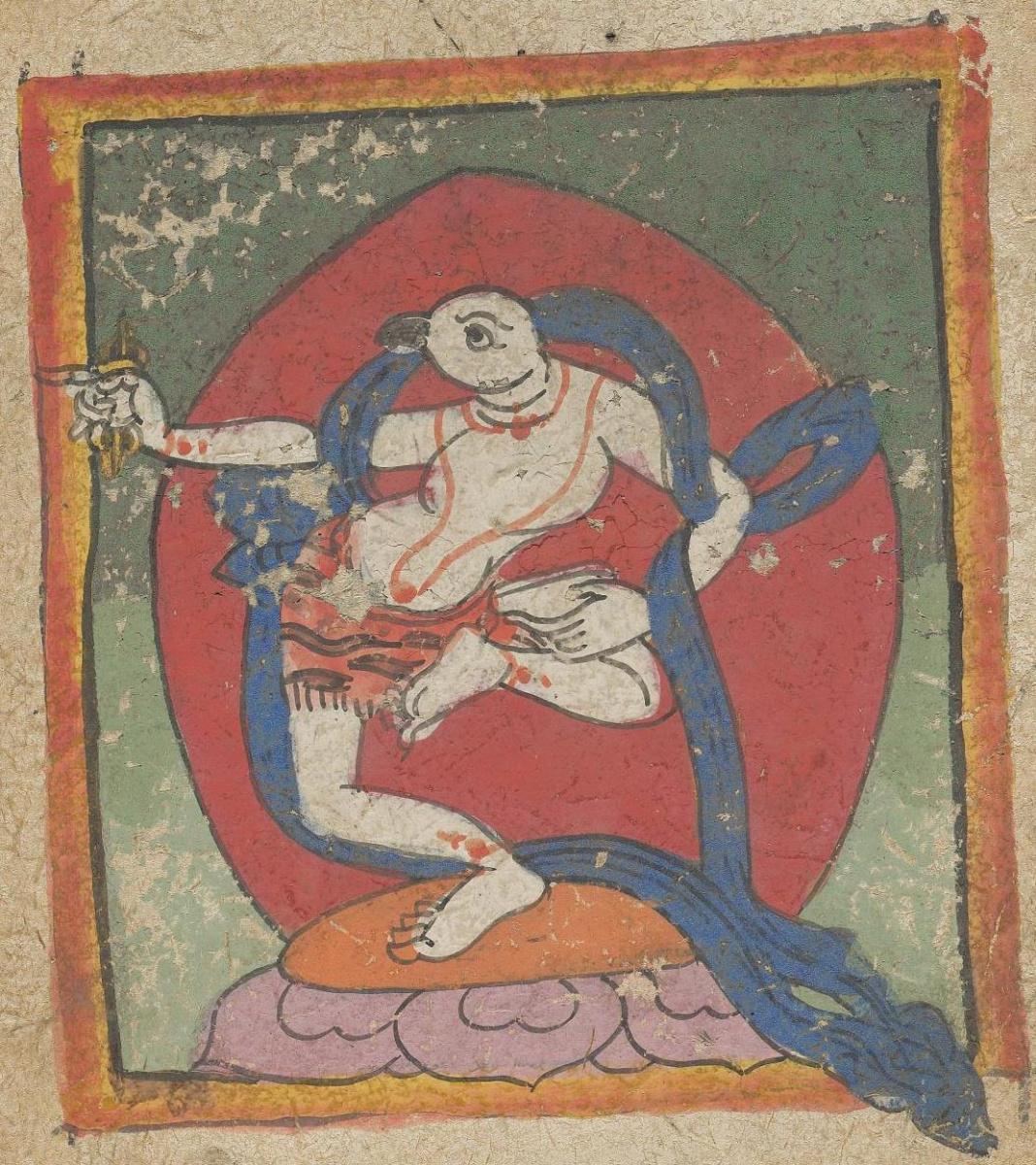 Unknown artist. The deity of the Tibetan Bon religion. Map 45