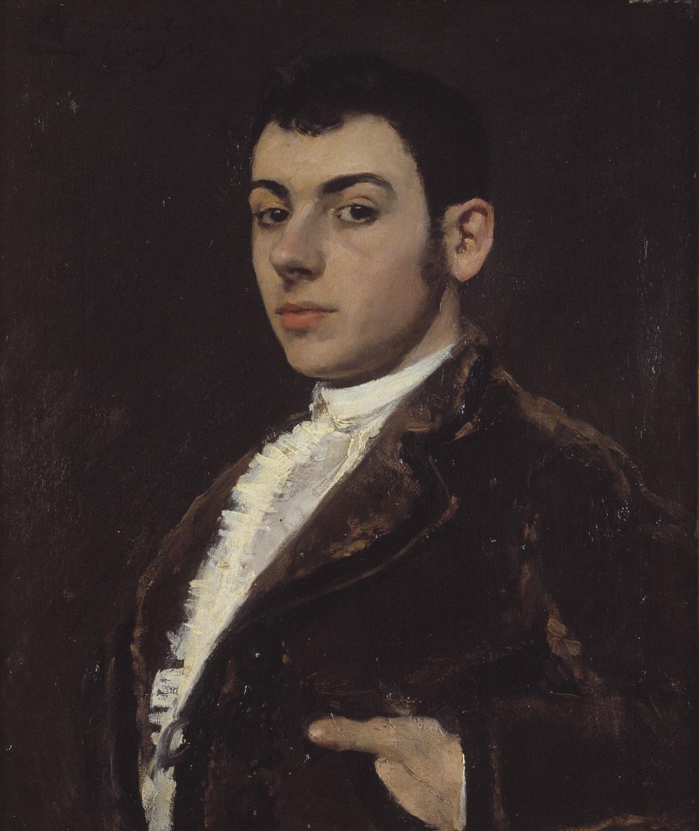 Рамон Касас Карбо. Портрет молодого мужчины