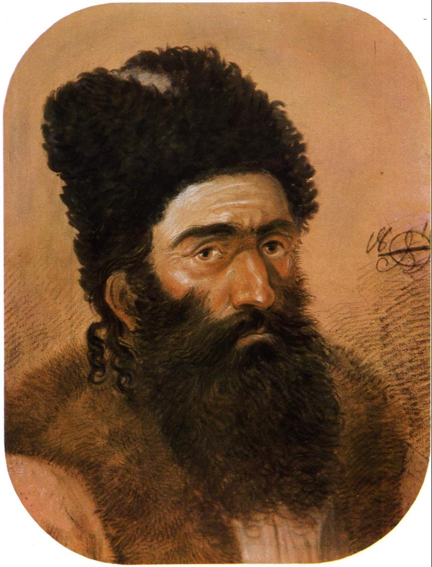 Alexander Osipovich Orlovsky. Portrait of a bearded man. National Museum of Fine Arts, Chisinau, Moldova