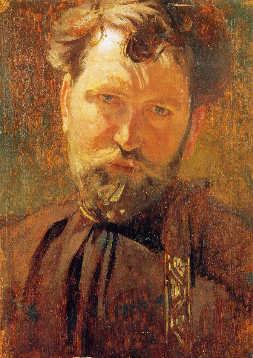 Alfonse Mucha. Self-portrait