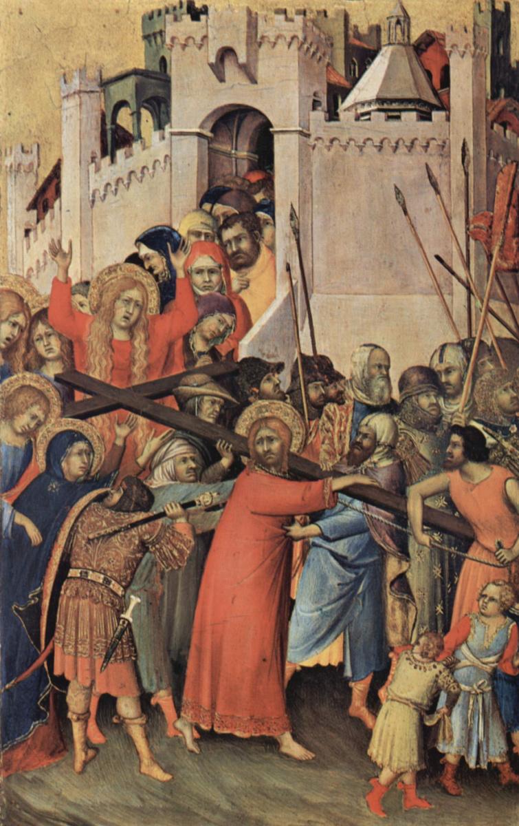 Симоне Мартини. Алтарь Орсини. Несение креста